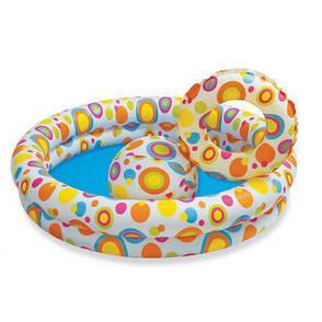 Детский бассейн надувной Intex 59460 + круг + мяч., фото 2