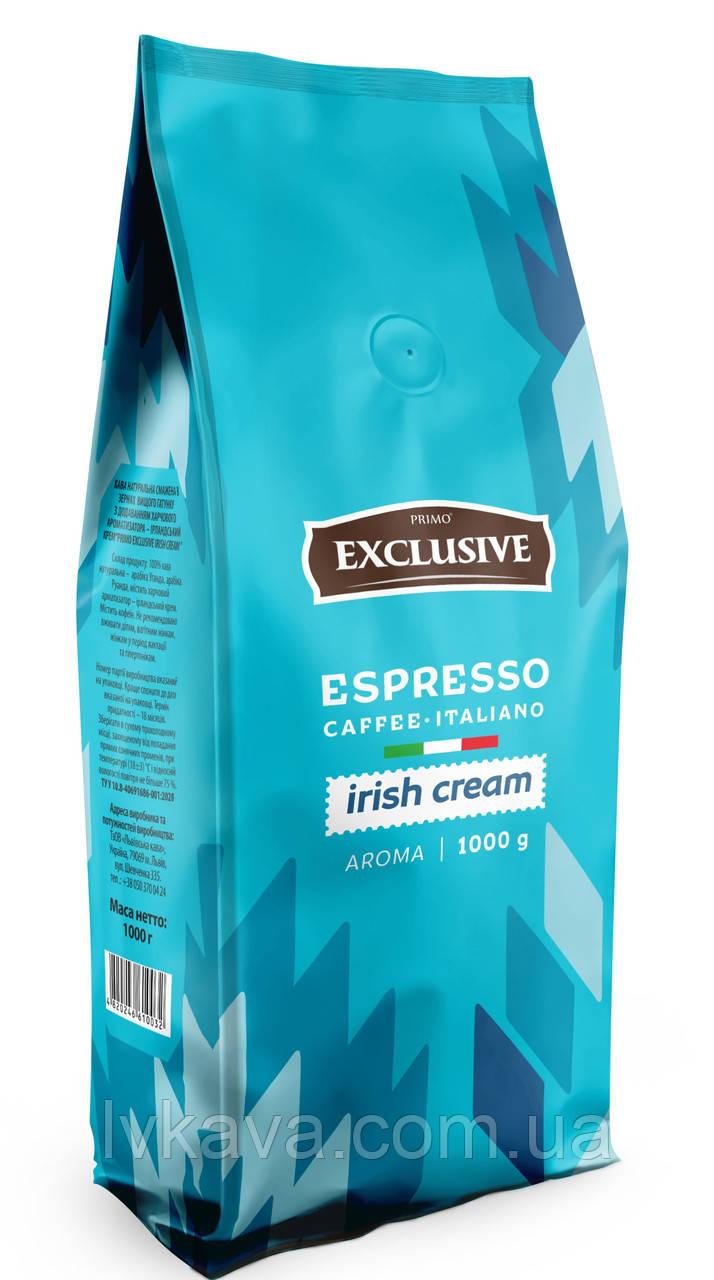 Кофе в зернах Primo Exclusive Irish Cream  Віденська кава ,  1кг