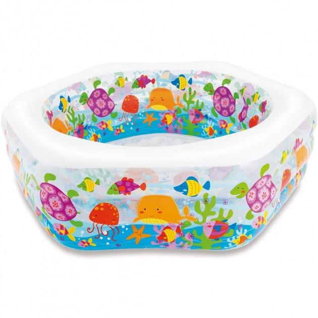 Надувной бассейн детский Intex 56493 191 х 178 х 61 см Океанский риф (56493_int)