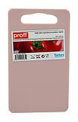 Кухонная доска PROFF Trendy маленькая 14 х 24 см Розовая