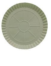 Паперова тарілка одноразова 275мм біла (100 шт)