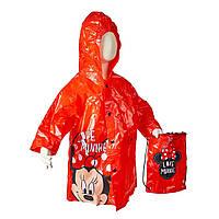 Плащ-дождевик Disney Минни Маус (Minnie), с сумкой, красный