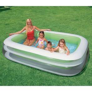 Надувний басейн Intex 56483 Family Зелений (56483), фото 2