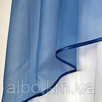 Ламбрекен легкий из шифона ALBO 300x120 cm Голубой (L-K3-29), фото 7