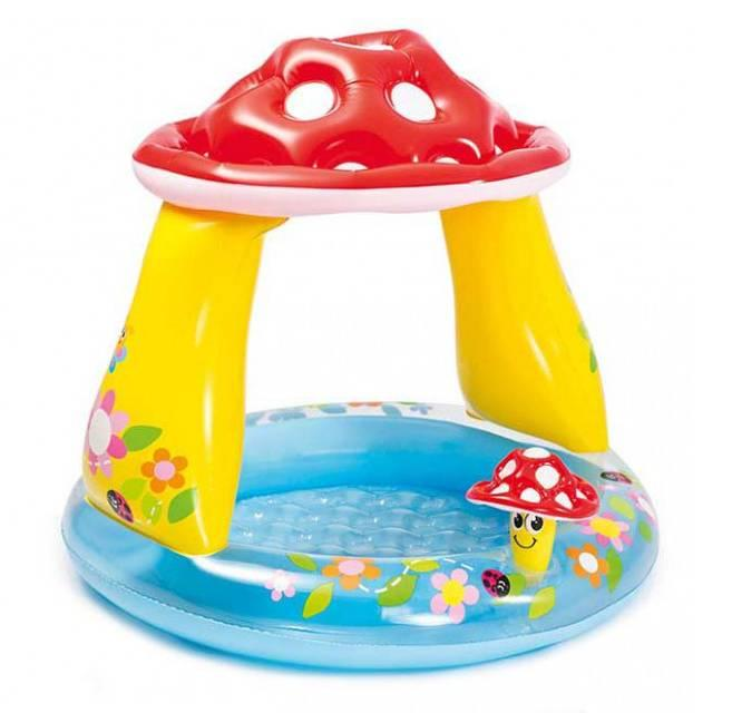 Дитячий басейн Intex Гриб 57114 102 х 89 см Різнобарвний (2-57114-48530)