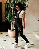 Комбинезон женский модный молодежный брючный из джинс коттона р-ры 42-44,44-46,46-48 арт 721