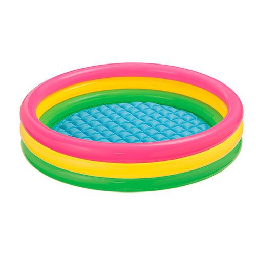 Дитячий надувний басейн Intex 57412 Веселі колечка Різнобарвний (57412)