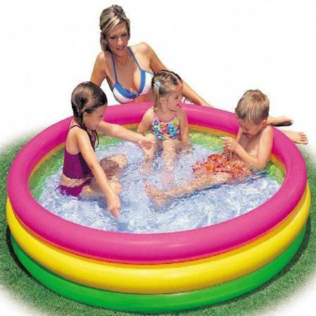 Дитячий надувний басейн Intex 57412 Веселі колечка Різнобарвний (57412), фото 2