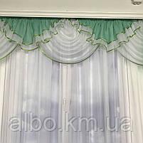 Готові ламбрекени для спальні, ламбрекен в спальню дитячу, ламбрекен без штор для залу вітальні, готові ламбрекени з шифону для, фото 4