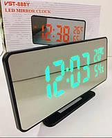 Часы настольные VST 888 с зелёной подсветкой