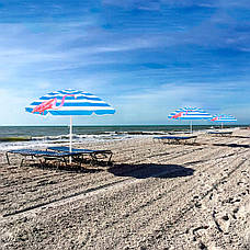 Пляжный зонт с регулируемой высотой и наклоном Springos 180 см BU0013, фото 3