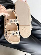 Женские сандали Chanel PA382 бежевые