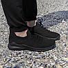 Чорні чоловічі тканинні кросівки шкарпетки літні текстиль легкі кросівки сітка кросівки шкарпетки, фото 4
