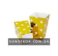 Коробочки для сладостей Горох золото 7х5х11,5 см (6 штук)