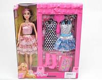 Детская кукла 30 см в красивом платье с аксессуарами и набором платьев игрушка для девочки