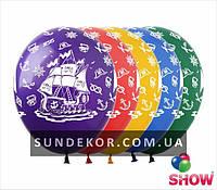 Надувные шарики пиратский корабль 12 (30 см) ТМ Show