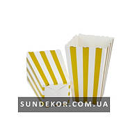 Коробочки для сладостей Полоска золото 7х5х11,5 см (6 штук)
