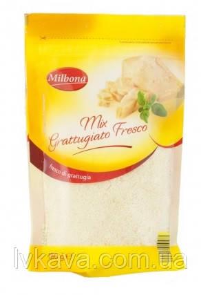 Сир Milbona Mix Grattugiato Fresco тертий , 150 гр, фото 2