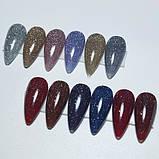 Світловідбиваючий Гель лак Global Fashion, Disco Gel Shine Spectrum, 8 мл 09, фото 3