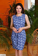 Джинсове короткий жіноча приталені плаття літнє без рукава р-ри 42-46 арт. 3377