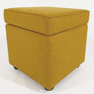 Пуф с ящиком для хранения Lucky 23 47х47x45 см горчично-желтый
