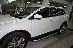 Mazda CX-9 2007-2016 рр. Бічні пороги Fullmond (2 шт., алюм.)