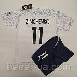 Футбольная форма детская и стиле Puma/Manchester Citi резервная Zinchenko 2021/Зинченко/Ман Сити