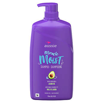 Шампунь для cухих волос с маслами авокадо и жожоба Aussie Miracle Moist Shampoo with Avocado & Jojoba 900 мл