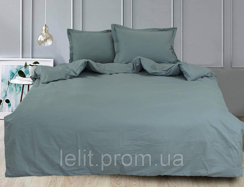 Євро комплект постільної білизни Green Grey