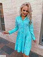 Повседневное платье на пуговицах р-ры 42-48 арт. 10125