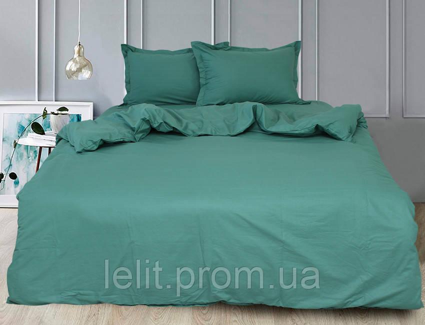 Евро комплект постельного белья Green