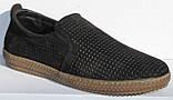 Чоловічі сильні чорні туфлі нубук від виробника модель ТР2101, фото 5