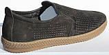 Чоловічі сильні чорні туфлі нубук від виробника модель ТР2101, фото 4