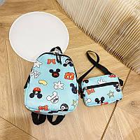 Рюкзак детский mickey mouse рюкзак 2в1 бананка 26*19*10 см