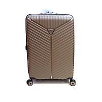 Дорожный фирменный чемодан средний на 70 л Snowball 05103 шампань, фото 1