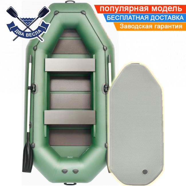Надувная лодка Kolibri К-300CT трехместная надувной пол airdeck сдвижные сиденья