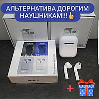 Наушники беспроводные   Air inPods* i12 сенсорные белые для IOS и Андроид