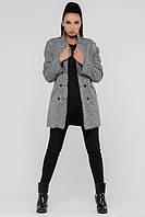 ТМ Ghazel Пальто женское Базальт светло-серое Ghazel