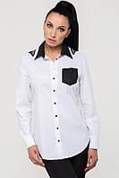 ТМ Ghazel Рубашка женская Дольче бабочка белая Ghazel