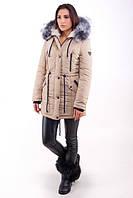 TM Ozze Куртка женская парка зимняя №1 песочный OZZE