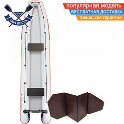 Лодка каноэ Kolibri КМ-460C четырехместная с жестким дном слань-книжка