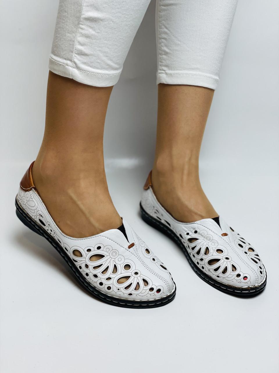 PSC. Женские туфли -балетки из натуральной кожи.Турция. Размер 38 39 40 41 Супер комфорт.