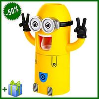 Автоматический дозатор для зубной пасты Миньон, диспенсер с держателем для зубных щеток