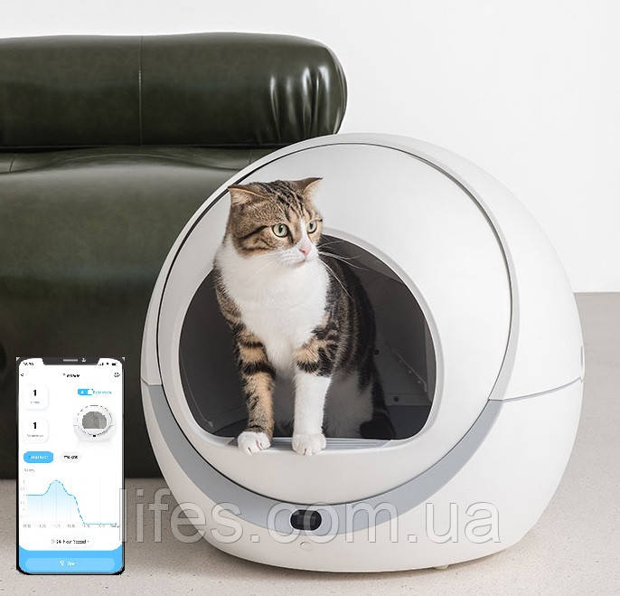 Автоматический туалет для кошек Petree WIFI