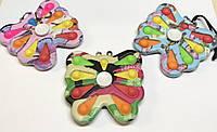 Игрушка Симпл Димпл разноцветный бабочка антистресс Simple Dimple спинер