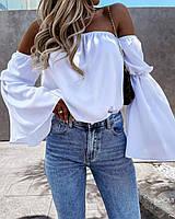 Женская блузка с  открытыми плечами