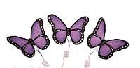 Сахарное украшение из мастики бабочки сиреневые набор из 3 штук