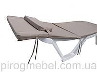 Матрас на садовый или пляжный шезлонг с подушкой бежевый VIP качество