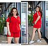 Костюм с шортами красный