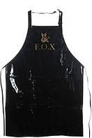 Фартук маникюрный (лакированая ткань) F.O.X (черный)